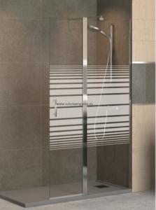 Mampara de ducha con serigrafía mediante arenado