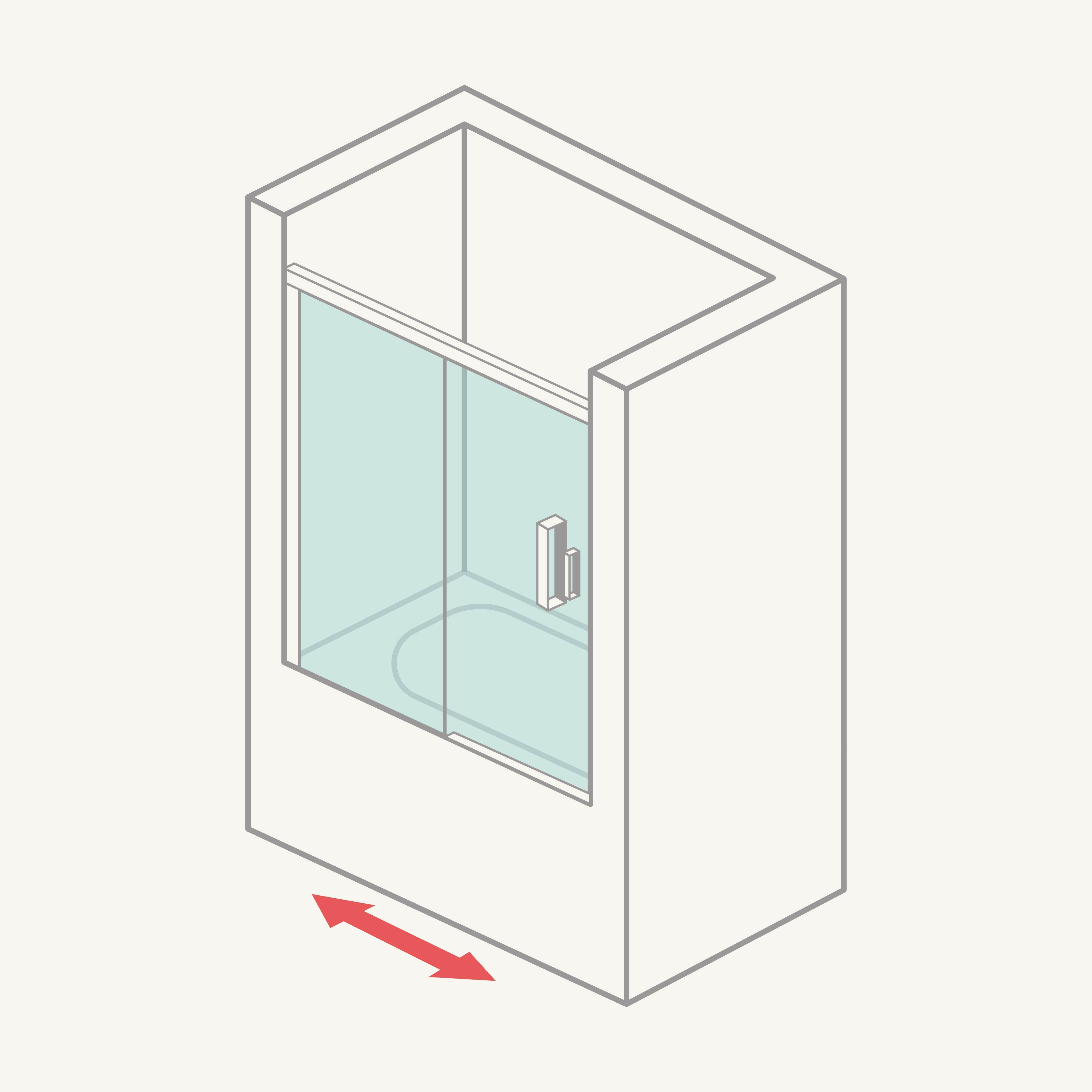 Mamparadebañerafrontal(1fija+1corredera)