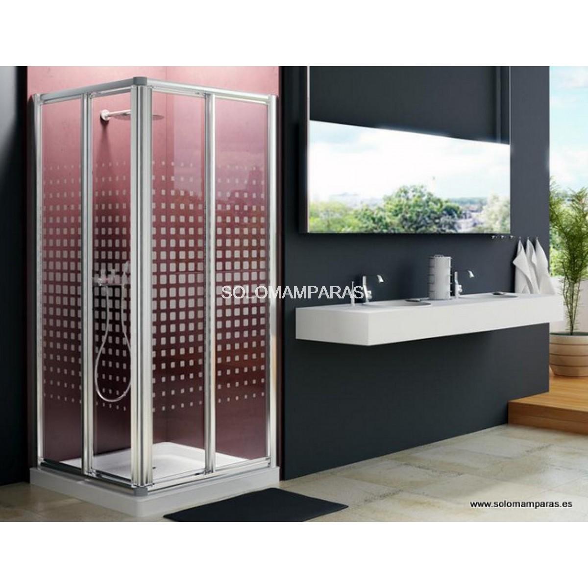 Mampara angular de ducha madeira - Mamparas de ducha cuadradas ...
