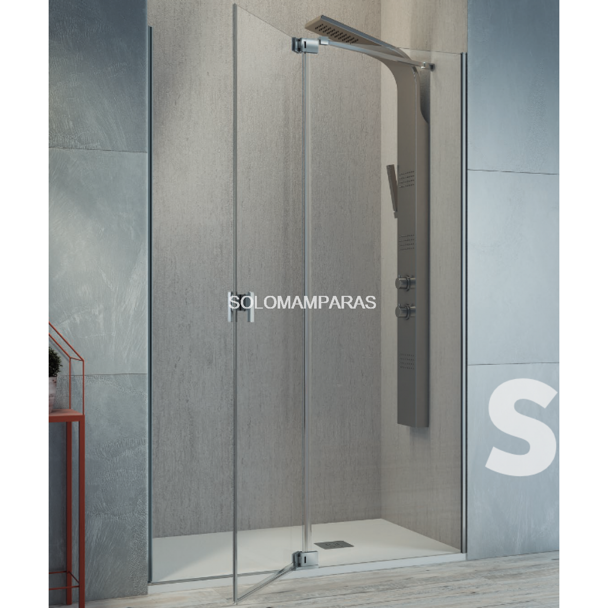Mamparas De Bano Kassandra Madrid.Mampara De Ducha Kassandra Sula Sl603 Sl602 Transparente Antical Easy Clean 1 Fija 1 Abatible Con Lateral Fijo Opcional