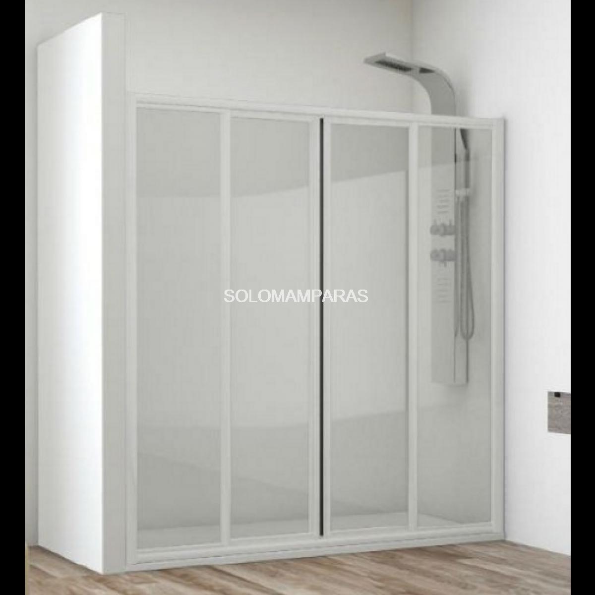 Frontal de ducha mampara sella 2 fijas 2 correderas for Frontal ducha