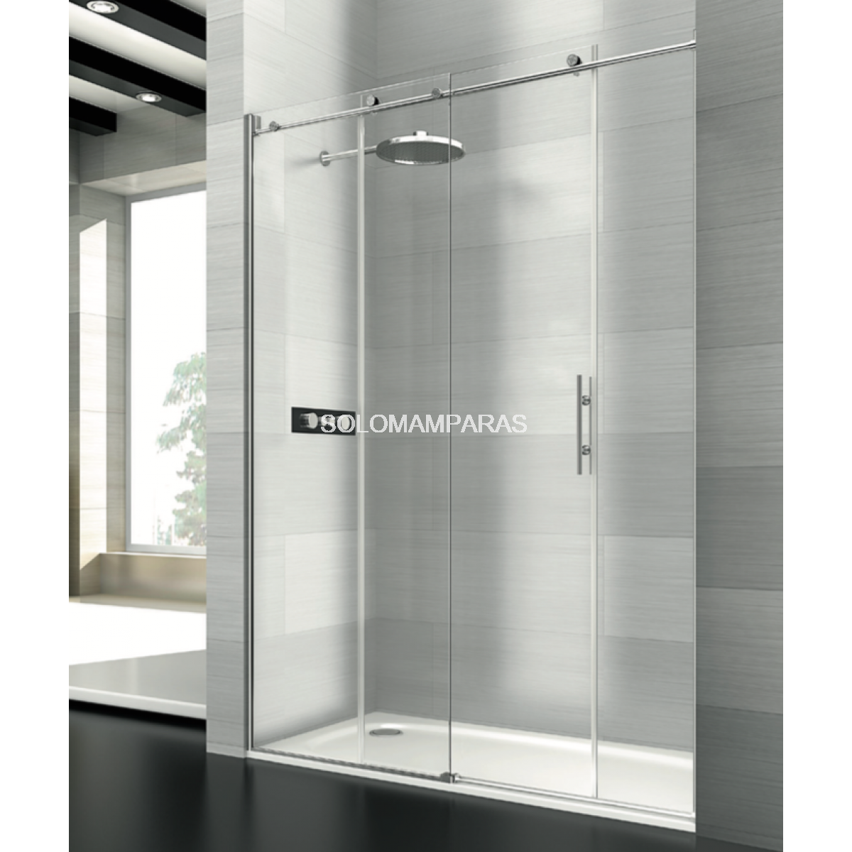 Mampara de ducha saina deyban 1 fijo 1 corredera - Mamparas de ducha opiniones ...