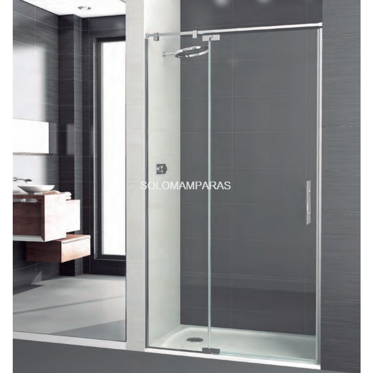 Mampara de ducha polary articulada deyban 1 fijo 1 for Mampara ducha fijo abatible