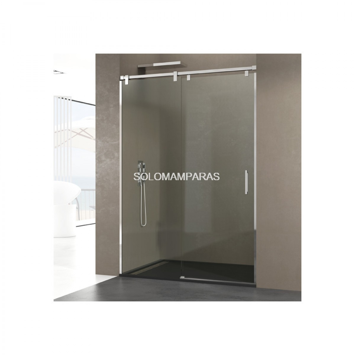 Mampara frontal de ducha futura - Mampara fija ducha ...