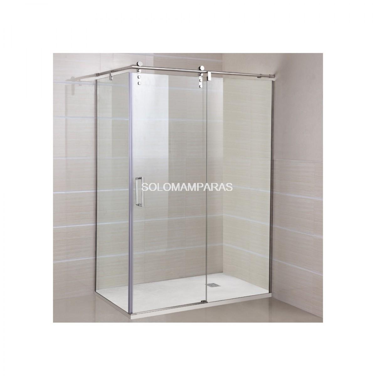 Mampara de ducha gme moving 1 fija 1 corredera - Mampara fija ducha ...