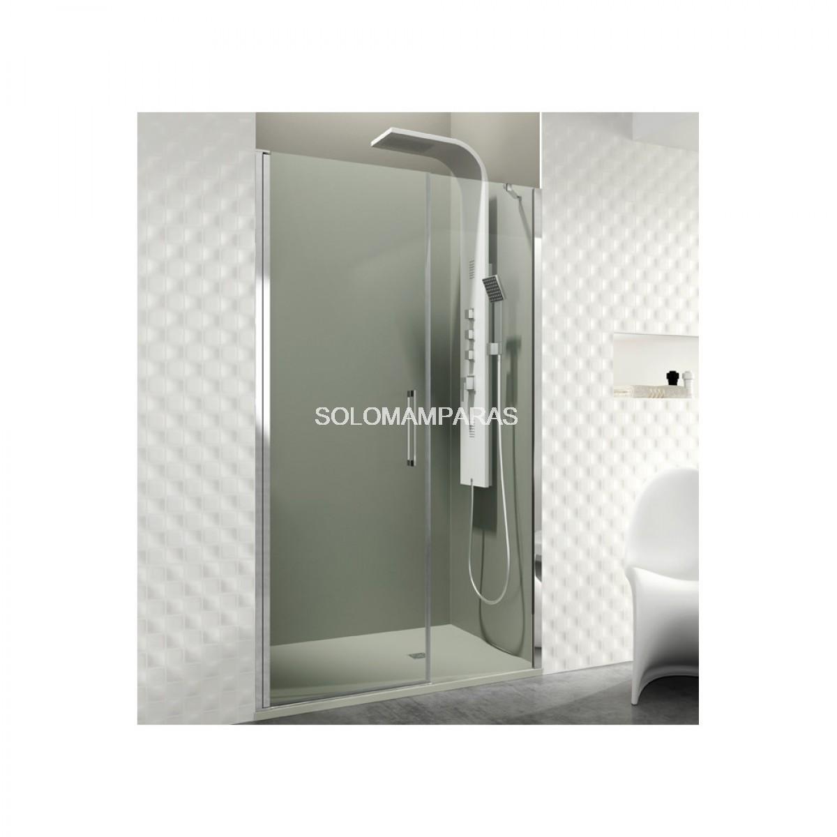 Mampara de ducha con puerta abatible for Mampara ducha fijo abatible
