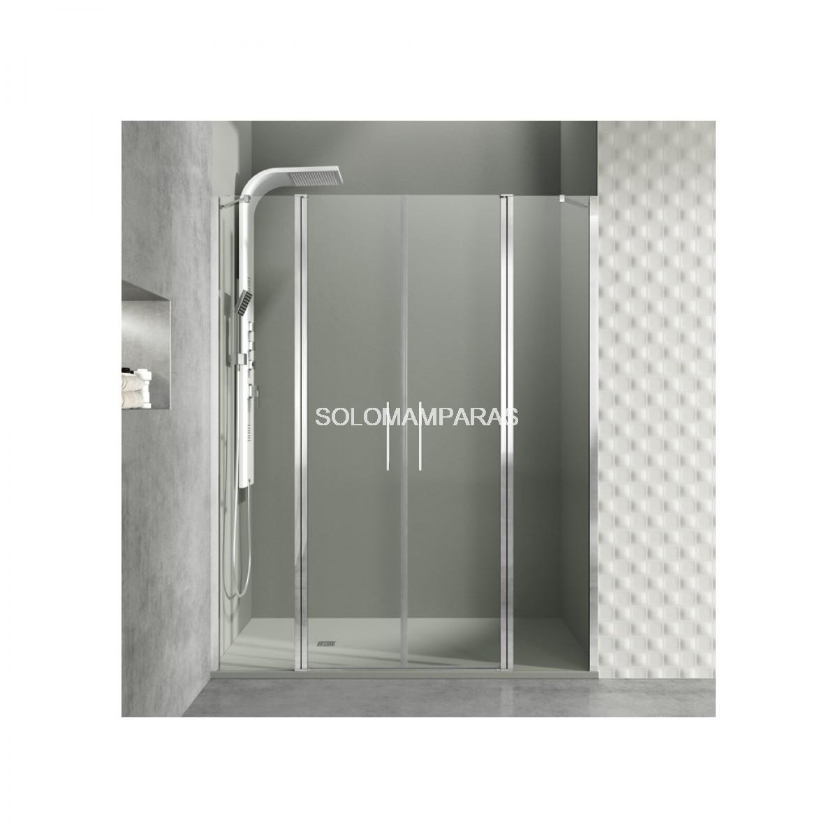 Mampara de ducha gme open fijo 2 puertas abatible - Mamparas de ducha puertas abatibles ...