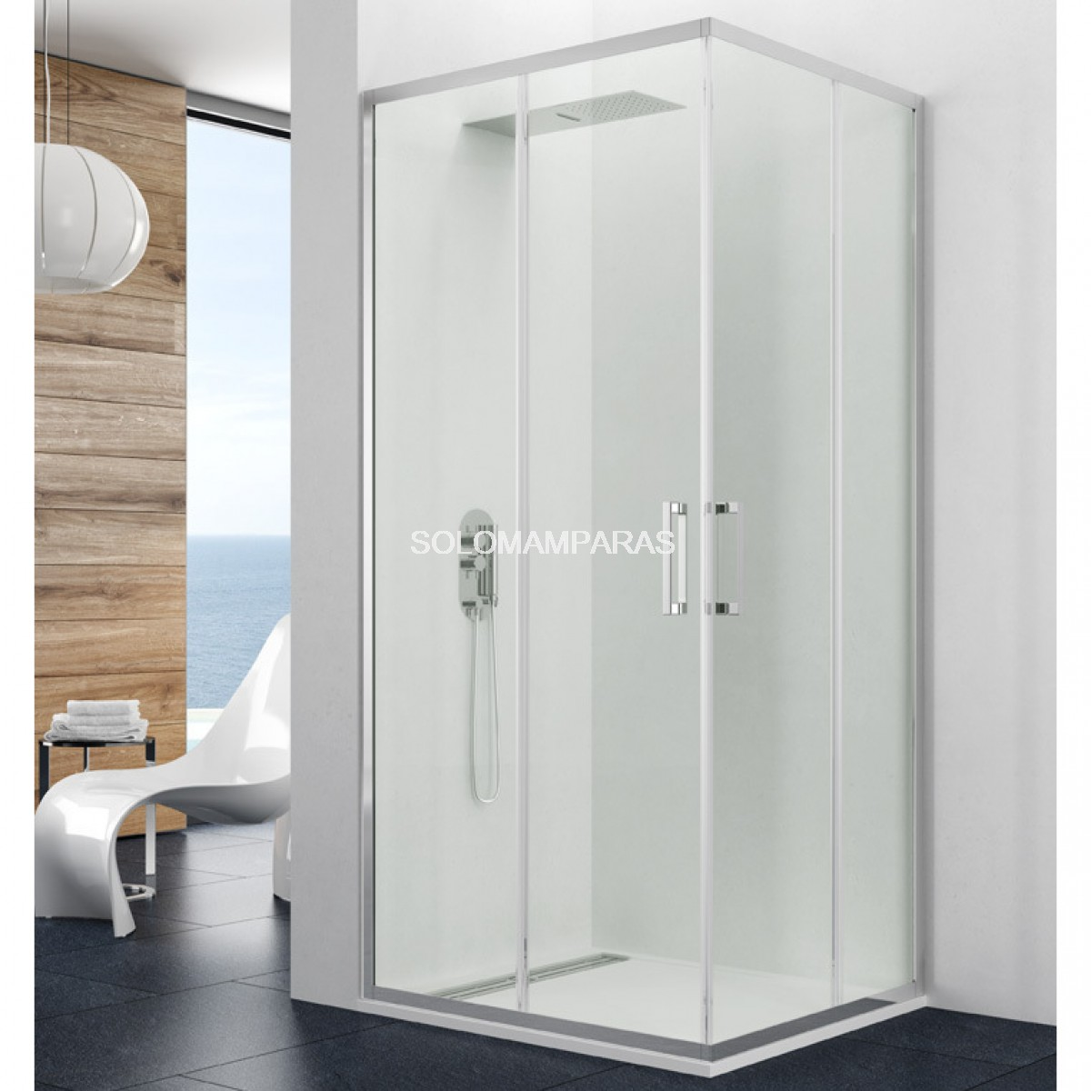 Mampara de ducha gme prestige angular 2 fijas 2 correderas - Mamparas ducha correderas ...