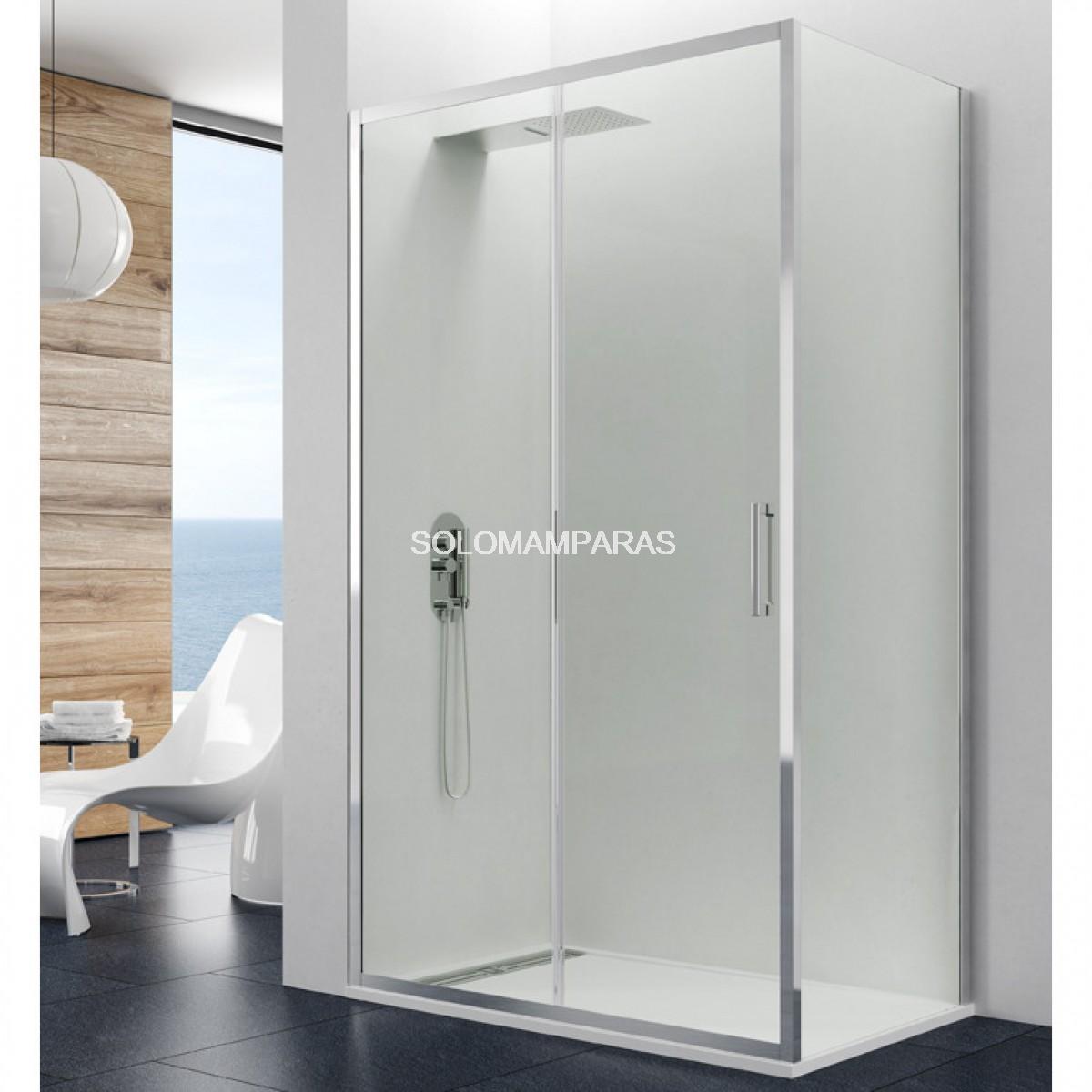Mampara de ducha gme prestige 1 fija 1 corredera - Mampara fija ducha ...