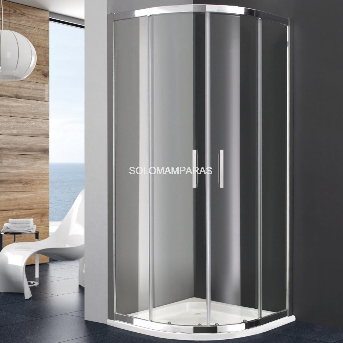 Mampara semicircular de ducha titan - Mamparas de ducha fijas ...