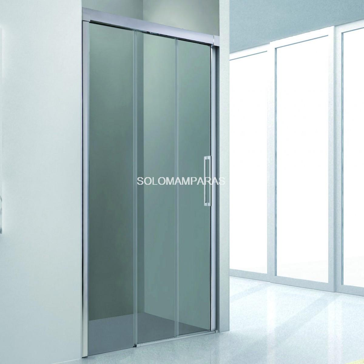 Mampara de ducha gme mampara trio 1 fija 2 correderas - Mamparas correderas de ducha ...