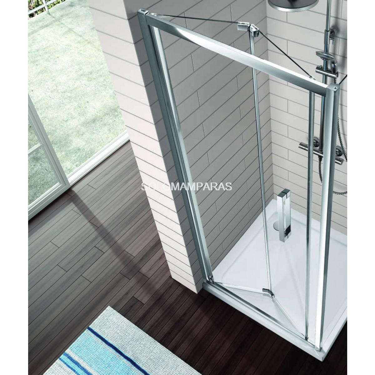 Mampara ducha serie 300 kassandra frontal tr300 - Mampara plegable ducha ...