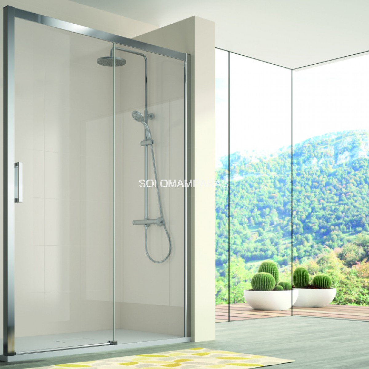 Mampara de ducha kassandra 400 cu607 cu602 transparente - Mamparas de ducha opiniones ...