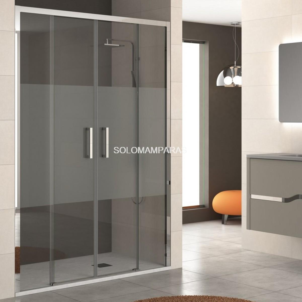 Mampara ducha sin perfil inferior lyon 2fijas for Mamparas de ducha correderas sin perfiles
