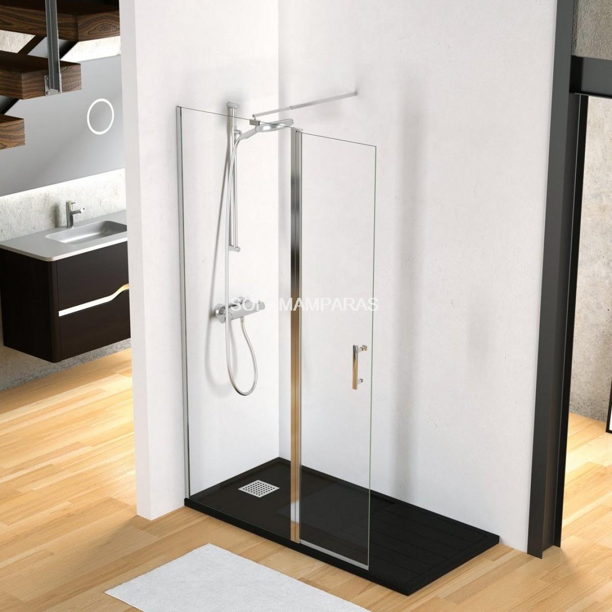 Mampara fijo de ducha milan lisa - Mamparas abatibles para ducha ...