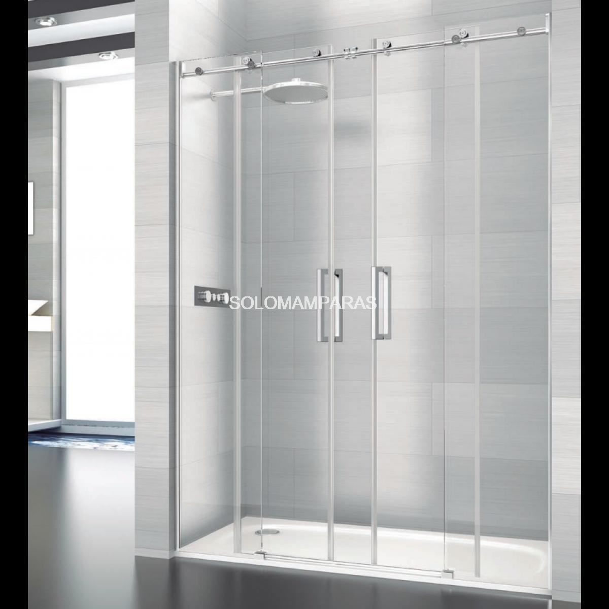 Mampara de ducha saina deyban 2 fijas 2 correderas for Mamparas de ducha fijas