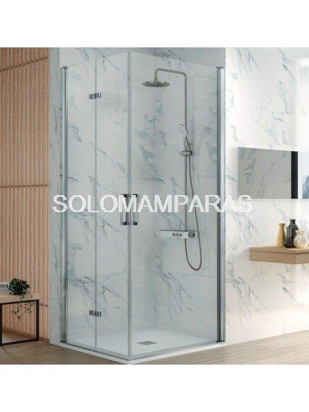 Mampara de ducha Kassandra Nardi (NA305) Transparente (Antical Easy Clean) (2 puertas plegables + 1 abatible)