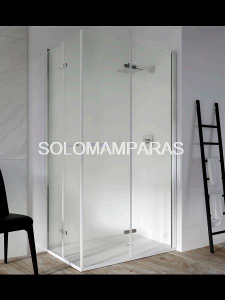 Angular de ducha de dos puertas plegables Spacious