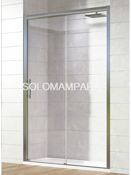 Mampara de ducha Tirso de Hidroglass (1 fija + 1 corredera) 6 mm