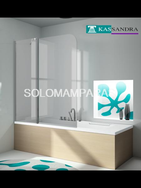 Hoja de bañera Kassandra, serie 300 (TR563) Fija + abatible de 120cms (Antical Easy Clean)
