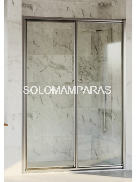 Mampara de ducha Cares de Hidroglass (1 fija + 1 corredera) vidrio
