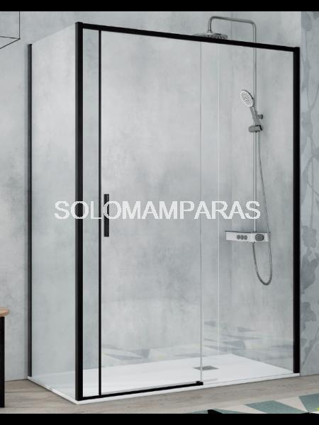 Mampara de ducha Kassandra Masela (MS102 + MS103) Transparente o con Decorado Kari (Antical Easy Clean) (1 fija + 1 corredera)