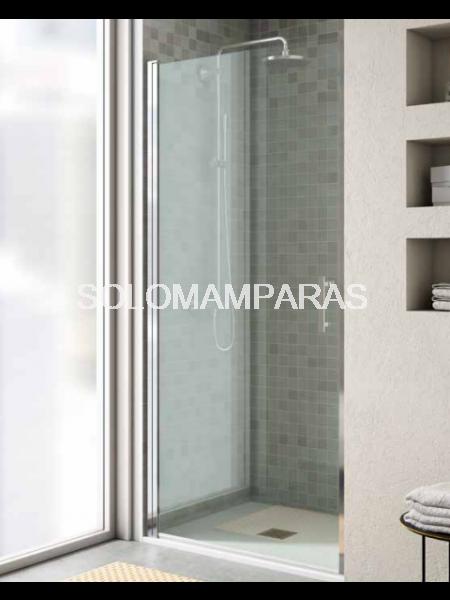Mampara de ducha Milán (panel abierto con puerta abatible)