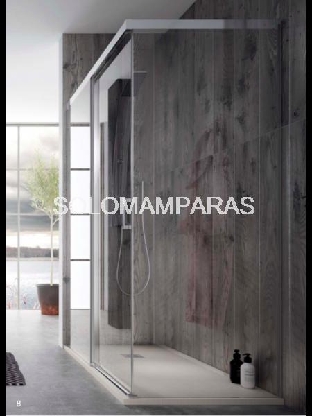 Frontal de ducha Mampara Pinet de Torvisco, 1 fija + 1 corredera (sin cierre)