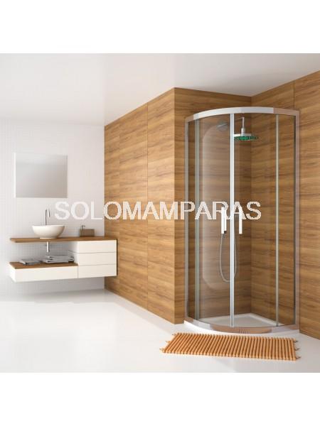 Mampara Kassandra Serie 300, Semicircular TR130 – TR131 Transparente con Antical Easy Clean