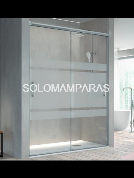 Mampara de ducha Kassandra Betty (BT111) Transparente o con Decorado Bali (Antical Easy Clean) (2 puertas correderas)