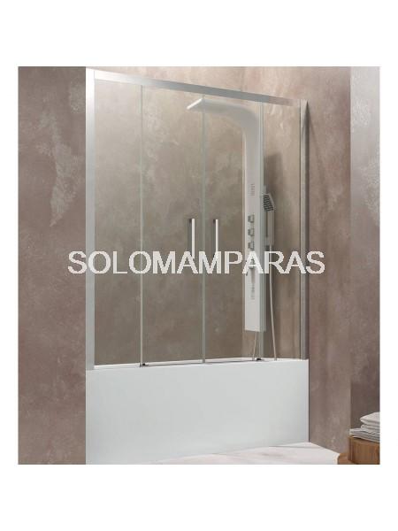 Frontal de bañera Aktual Spazio de GME, 2 fijas + 2 correderas,  transparente o serigrafía frost plus