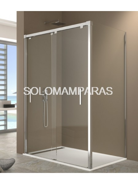 Mampara de ducha By Pass -GME- (2 correderas + lateral fijo)