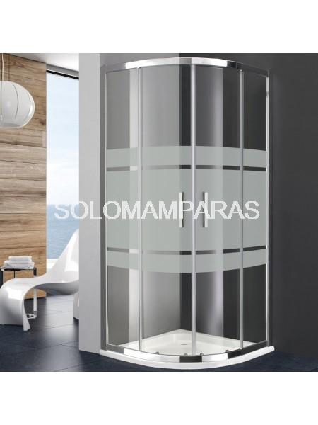 Mampara de ducha semicircular Titan Prestige de GME con serigrafía Frost Plus (antical)