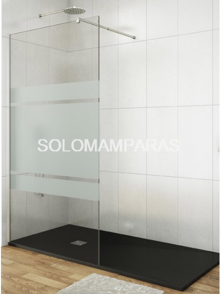 Fijo de ducha -GME-  mampara Screen serigrafía Frost Plus 8mm