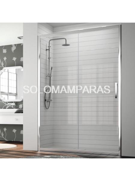Mampara Kassandra 300, TR102 Transparente con Antical Easy Clean (1 fija + 1 corredera)