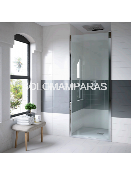 Mampara de ducha frontal Clean puerta abatible