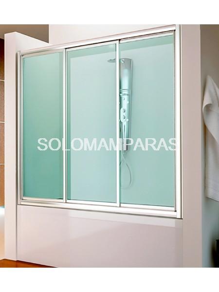 Mampara frontal de bañera Bali -Hidroglass- (3 correderas) vidrio templado 4 mm