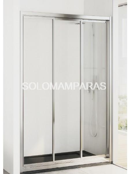 Mampara de ducha Tobago -Hidroglass- (3 hojas correderas) Vidrio 4mm