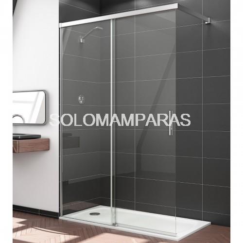 Mampara de ducha elba 1 fija 1 corredera sport a medida - Mampara ducha a medida ...