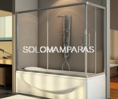 Mampara angular de bañera Thai -Hidroglass- (2 fijas + 2 correderas) 6 mm