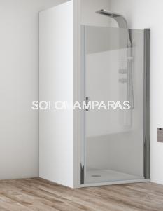 Mampara frontal de ducha Cancún -Hidroglass- 1 hoja abatible, 6 mm