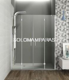 Mampara de ducha Glass -GME- (fijo + 2 abatibles + fijo)