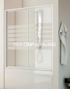 Frontal bañera mampara Ova (acrílico), 1 fija + 1 corredera