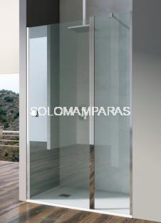 Mampara Open: puerta abatible y puerta fija