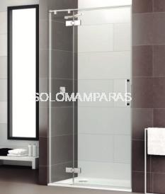 Mampara de ducha Selecta articulada -Deyban- (fijo + puerta abatible + lateral fijo) 8 mm (antical)