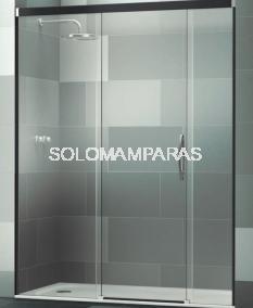 Mampara de ducha Elba Extra 3P -Deyban- (2 fijos + 1 corredera) con antical
