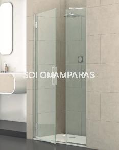 Mampara de ducha Junior -Deyban- (1 fijo + 1 abatible) 8 mm (antical y acero)