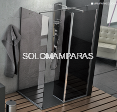 Mampara de ducha Elba -Hidroglass- (1 frontal fijo + 1 fijo interior + 1 lateral fijo) 6 mm