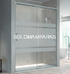 Mampara de ducha Kassandra Betty (BT111) Transparente o con Decorado Bali (Antical Easy Clean) (2 puertas correderas)