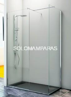 Mampara de ducha Geba -Hidroglass- (1 frontal fijo + 1 lateral fijo) 6 mm
